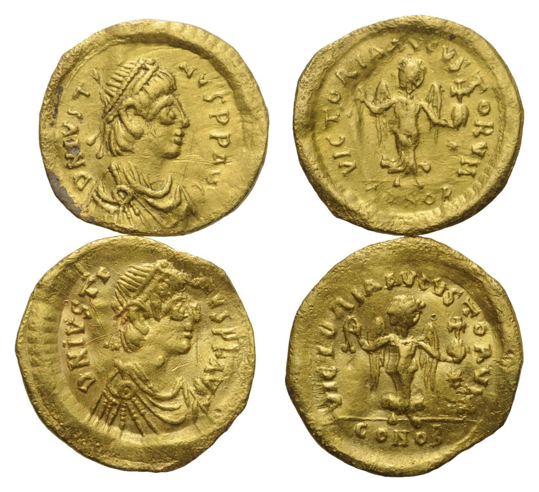 Münzen Mittelalter Münzen Byzantinische Münze Lot 2 Stück