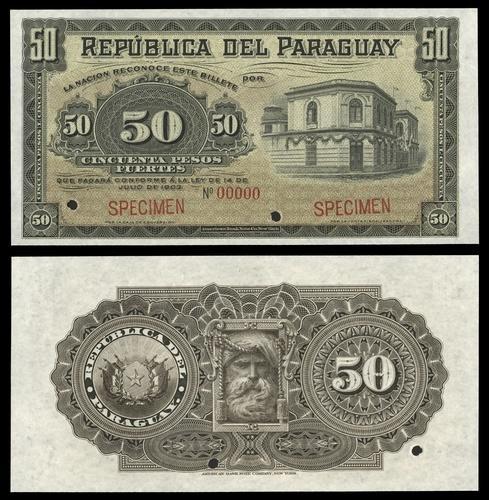 Paraguay 100 pesos 1920 UNC Reproduction