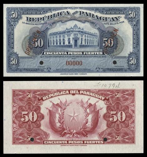 Paraguay 1000 pesos 1920 UNC Reproduction