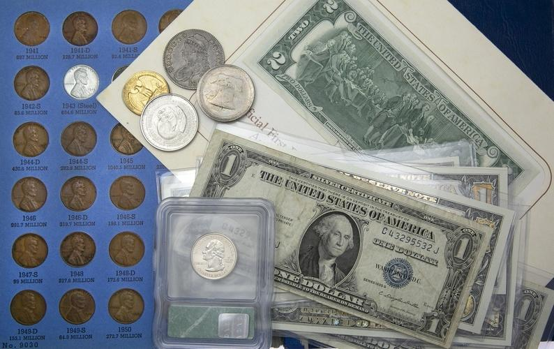 1946-P US Silver mint set 5 Choice BU coins in a Whitman plastic holder