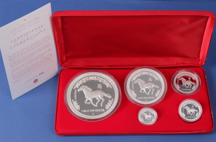 1994 *SILVER* Proof Set Box and Lens ONLY