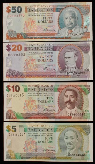 50 dollars 2009 signature Barbados UNC P-70 1-5-2007, 70b