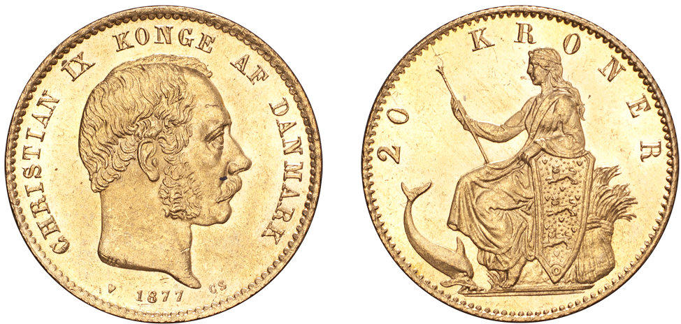 NumisBids: The Coin Cabinet Auction 6, Lot 9 : DENMARK