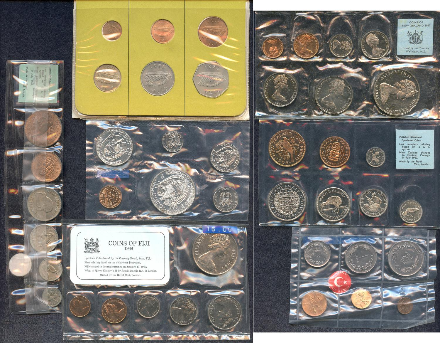 Canada 1981-1989 Set of 9 Different 25 Cents Proof Cameo Coins Collection Lot