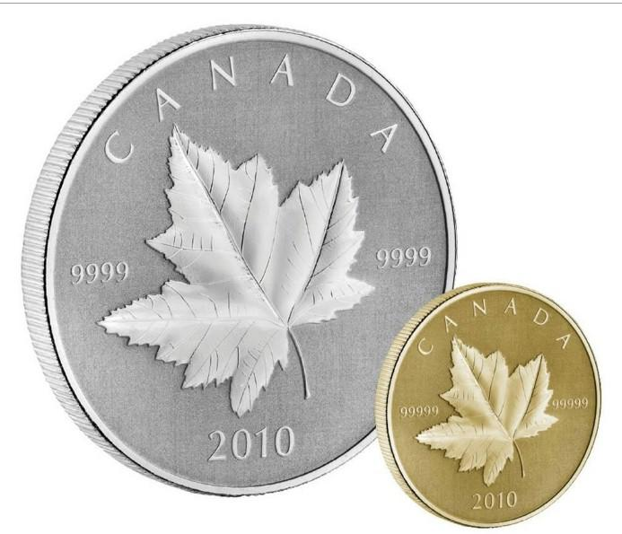 Maple Leafs TAX Exempt 2013 O Canada Series $10 Fine Silver Coloured Coin
