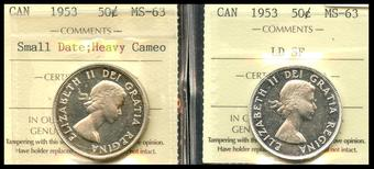 2-coins 2000  Canada   1 cent     MS-63  coin from roll