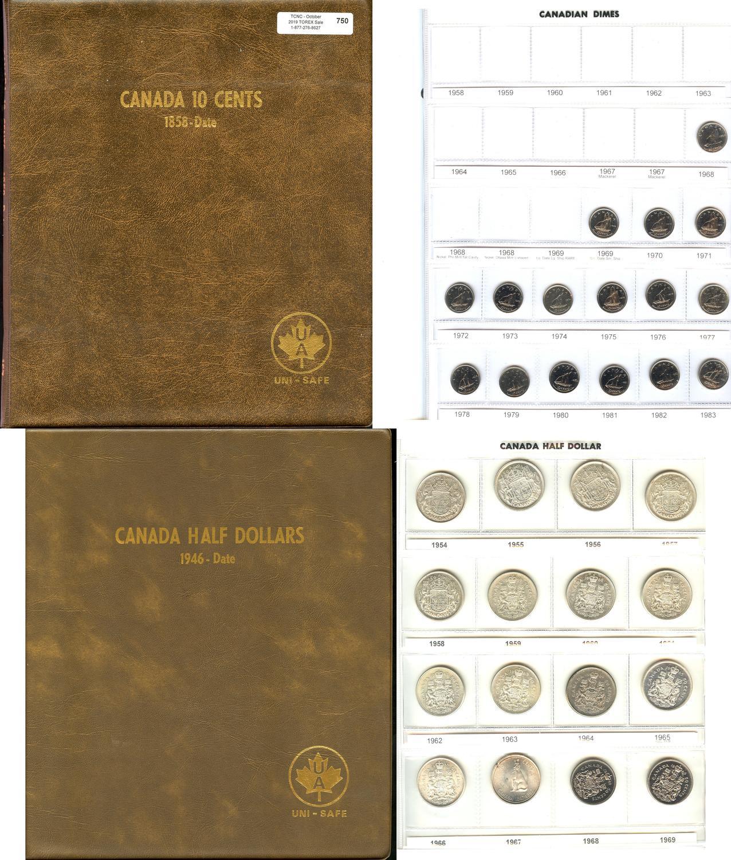 UNI-SAFE  CANADIAN  TEN  CENTS  FOLDER  ALBUM  BLUE #2 1920 - TO DATE