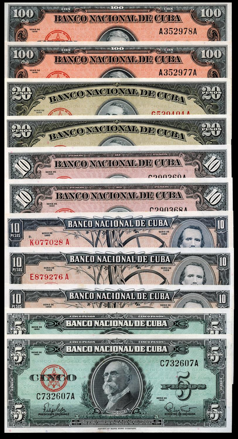 Top Set of  2 and 5  Pesos    Mint UNC ARGENTINA BANKNOTES CLASSIC ISSUES