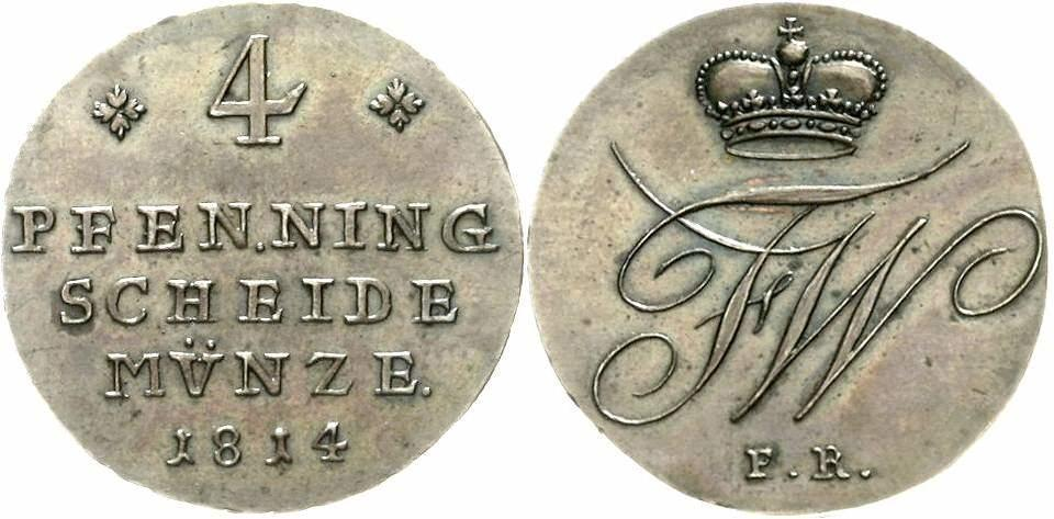 Münzen Altdeutschland Bis 1871 Kleinmünzen & Teilstücke Braunschweig-wolfenbüttel 2 Pfennig 1814 Friedrich Wilhelm 1806-1815