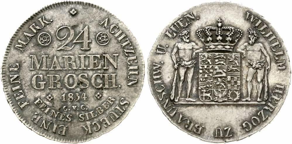 Münzen Altdeutschland Bis 1871 Braunschweig-wolfenbüttel 2 Pfennig 1814 Friedrich Wilhelm 1806-1815