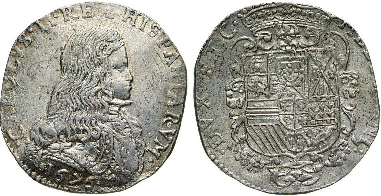 c18883a398 MILANO - CARLO II DI SPAGNA (1676-1700) Filippo 1676. Crippa 3 MIR 387/1 Ag  g 27,83 SPL