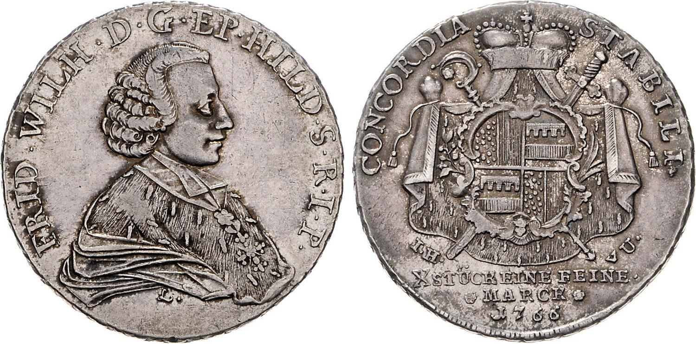 1/12 Thaler 1763 Hildesheim-bistum Kleinmünzen & Teilstücke