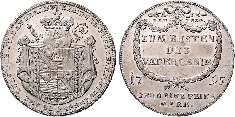 Münzen Mittelalter 20 Kreuzer 1787 Bamberg Würzburg Bistum Franz Ludwig Von Erthal Eine Feine Marck Byzantinische Münzen